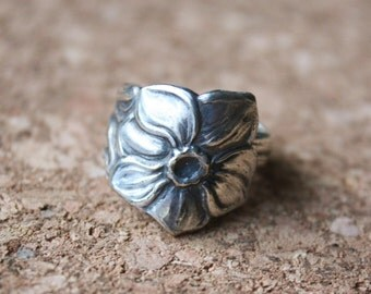 Theelepel Ring Flower