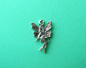 Sterling Fairy Charm, Small SS Fairy Charm, SS Fairy Dangle, Silver Fairy Charm, 12x8mm