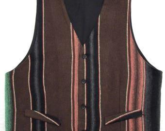 Vintage Southwestern Vest ~ fits sz 40 R / M