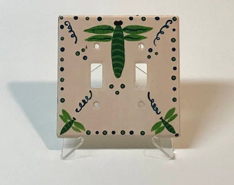 Hand Painted Dragonfly Switchplate