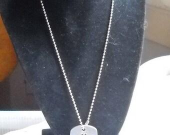 Faith rune dogtag like, pendant necklace.