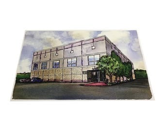 Scranton Business Park Poster 11x17 As Pam Beesly Painted In The Office TV Show Dunder Mifflin Watercolor Painting Building Wall Print Gift