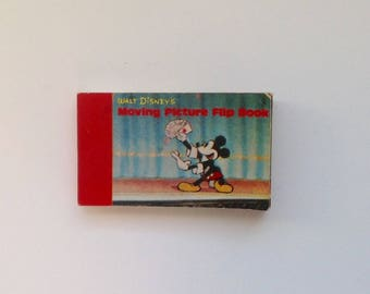 Vintage Walt Disney's Moving Picture Flip Book - Mickey Mouse and Donald Duck - Magic / Card Trick