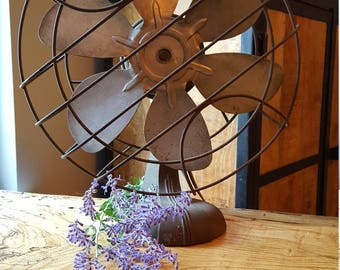 Vintage Industrial Metal Fan