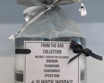 Four Pack Soy Candle Gift Set, From the Bar.