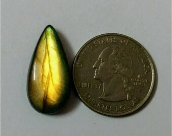 25.22 x 12.36 mm,Pear Shape/Tear Drop Labradorite Cobochon/Gold Flash/wire wrap stone/Super Shiny/Pendant Cabochon/Semi Precious Gemstone