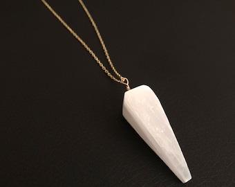 Handmade selenite necklace