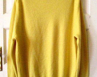 Men's Cashmere Turtleneck Sweater XL Long