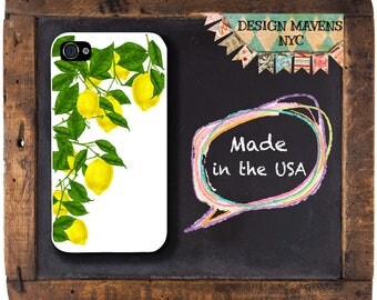 Lemons iPhone Case, Spring iPhone Case, Preppy Lemons iPhone Case, iPhone 8, 8 Plus, iPhone 7, 7 Plus, iPhone 6s, 6 Plus, SE, 5, 5s, 5c