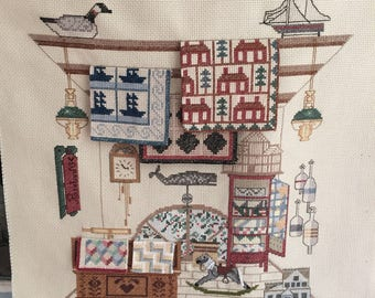 Hand Embroidery Tiny Quilts Hobby Horse Americana Ready to Frame