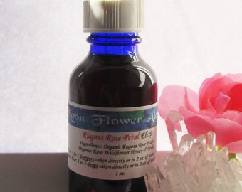 Rugosa Rose Elixir, Rose Elixir, Rose Petal Elixir, Rosa Rugosa, Rose Extract, Rose Honey, Heart Chakra