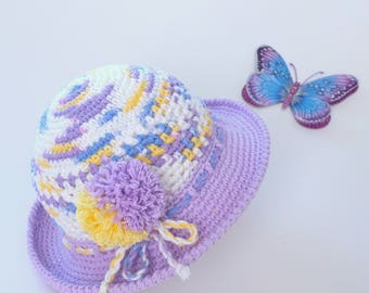 Baby Toddler Girl Sun Hat Baby Shower Gift Newborn Baby Foto Props Crochet Summer Hat Infant Girls Cotton Panama Cute Hats by Mila