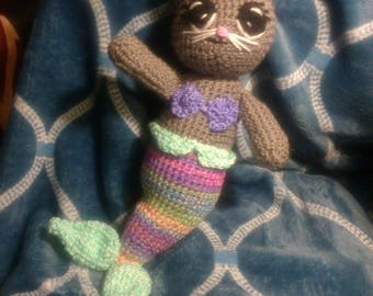 Crochet purrmaid any colors you want ready to ship
