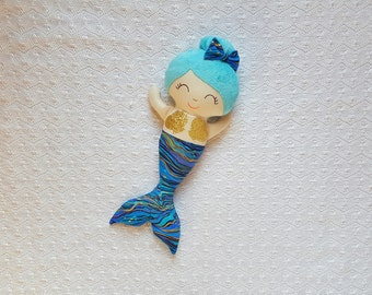 Mermaid Doll, Mermaid Decor, Christmas Gifts for Girls, Gift Ideas for Girls, Toddler Christmas Gifts, Handmade Doll, Cute Gift Ideas