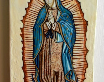 Our Lady of Guadalupe hand painted