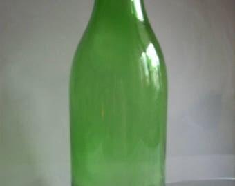 ON SALE Vintage green milk bottle,large green bottle