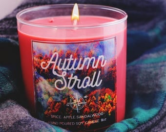 Autumn Stroll Soy Candle, Fall Candle, Gifts for her, Gifts for Him, Stocking Stuffer