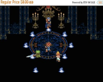 Chrono Trigger  Cross Stitch Pattern Magus Fight pattern вышивки крестом - 331 x 216 stitches - Instant Download - B1128