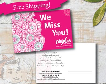 Plexus Postcards - We Miss You - Free Shipping