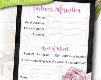 Plexus customer contact, mailing list, Instant digital file