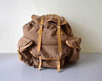 Vintage french Backpack / scout hiking bag / Rucksack LAFUMA made in France 60s
