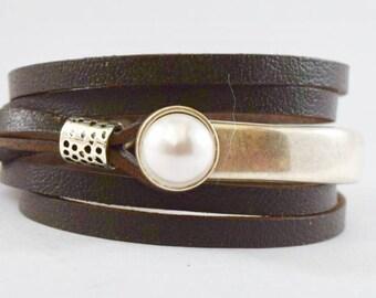 Leather bracelet, Leather wrap bracelet, wrap, wraps, Leather Bracelets, Joanna Gaines jewelry, uno de 50, wrap bracelet, Indieleather