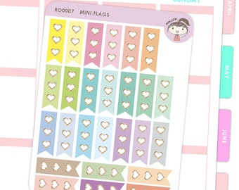 Rainbow Mini Checklist Flags / Planner Stickers