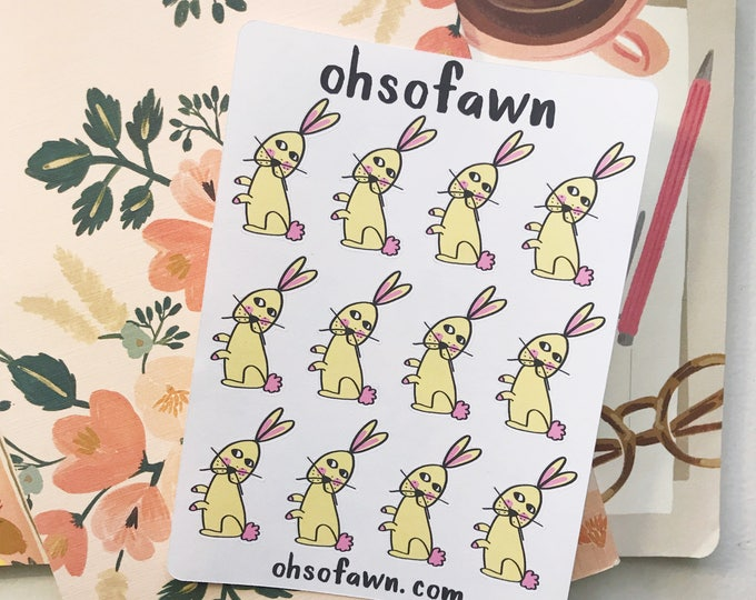 Hand Drawn Bunny Stickers 2.0