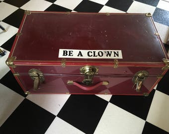 Vintage Clown Trunk with over 35 Clown Accessories for a Parade Circus or Halloween Party