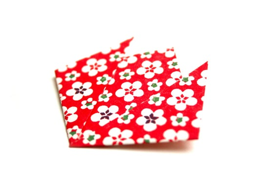 Origami paper Lotus brooch Japanese folding JUL & wire