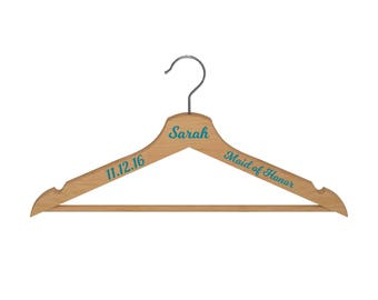 Wooden Hanger with Name_Date_Text