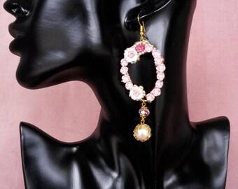 """Collection """"La Rosière"""" earrings N ° 8"""