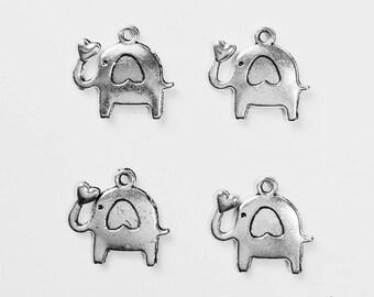 10 good luck elephant charms - SCE102