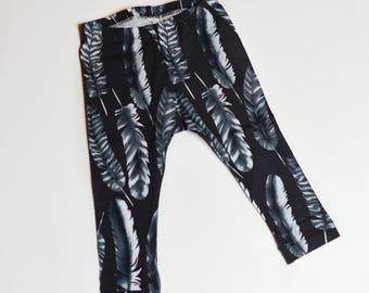 Black Feather Leggings