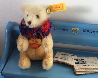 STEIFF DOLLY Miniature Mohair Teddy Bear Mini Baby Teddy Bär
