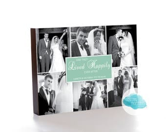 Personalised 'Happily Ever After' Wooden Photo Block