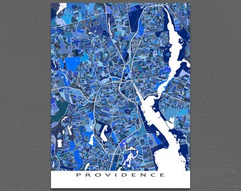 Providence Rhode Island, Providence Map, Street Map Art City Map