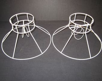 Wire lampshade frames south africa image collections wiring wire lampshade frame etsy 2 white wire clip on lampshade frames 4 top 10 bottom keyboard greentooth Images
