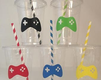 Video Game Party Cups, Gaming Party, Gamer Party Cups, Video Game Birthday Party, Gaming Birthday Party, Gaming Truck Party,