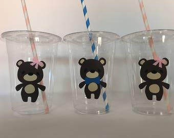 Teddy Bear Party Cups, Teddy Bear Baby Shower, Teddy Bear Birthday, Bear Party Cups, Bear Baby Shower Cups, Teddy Bear Picnic Party Cups