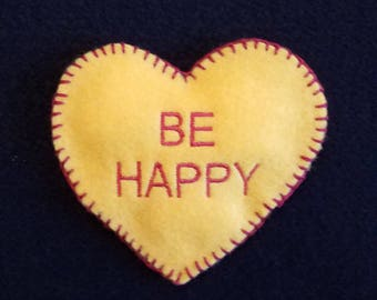 """Heart Cookie """"BE HAPPY"""""""