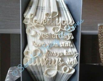 Sale Sale Sale Love Quote - Combi Cut And Fold - Book Folding Pattern