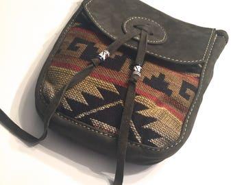 Leather Handmade Crossbody Bag/ Boho Bag/ Hippie Bag