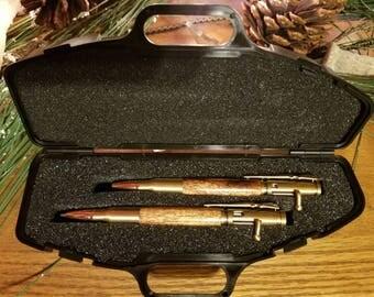 A .30 Caliber Bolt Action Pen and Pencil Set