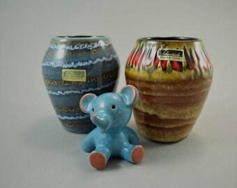 Vintage set of 2 vases / Scheurich / 550 10   West Germany   WGP   60s