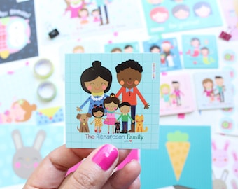100 gift tags personalized / flat cards /  custom gift tags