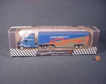 ertl semi racing transporter tractor trailer chevrolet 3 nib collectible
