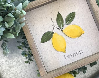 Lemon // 9x9 Handpainted Sign