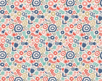 1 Yard Heart and Soul by Deena Rutter and Seek Good Works for Riley Blake Designs - 6701 Blush Heart Floral