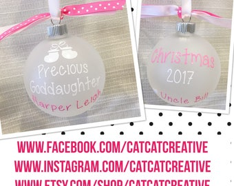 Personalized Precious Goddaughter christmas ornament | Goddaughter Gift | Goddaughter Christmas Gift | Goddaughter Keepsake
